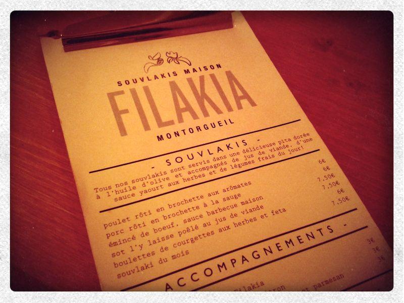 Délicieux souvlakis chez Filakia