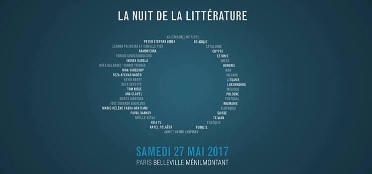 Nuit de la Littérature 2017