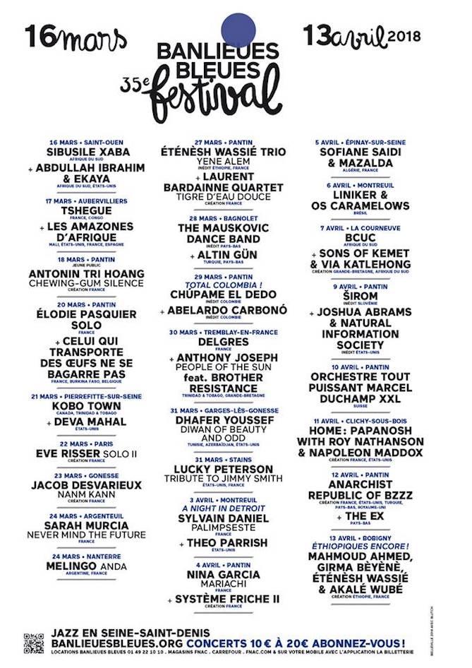 35ème Festival Banlieues Bleues 2018 - Programme
