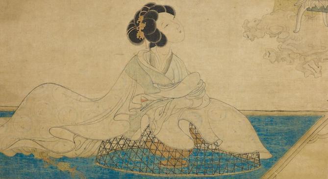 Femme parfumant ses manches (détail), Chen Hongshou ©Musée de Shanghai